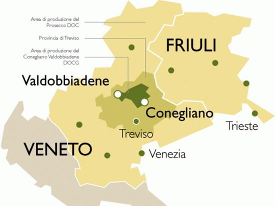 Регионы производства знаменитого игристого вина