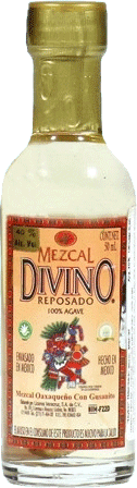 Divino Mezcal Reposado, with the caterpillar, 0.05л