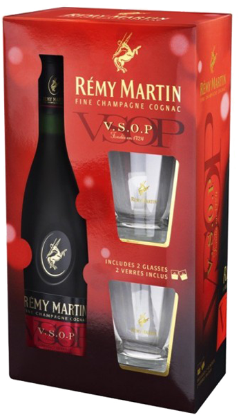 "Remy Martin"" VSOP, with 2 glasses"