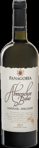 Fanagoria Avtorskoe Vino Aligote-Riesling белое сухое