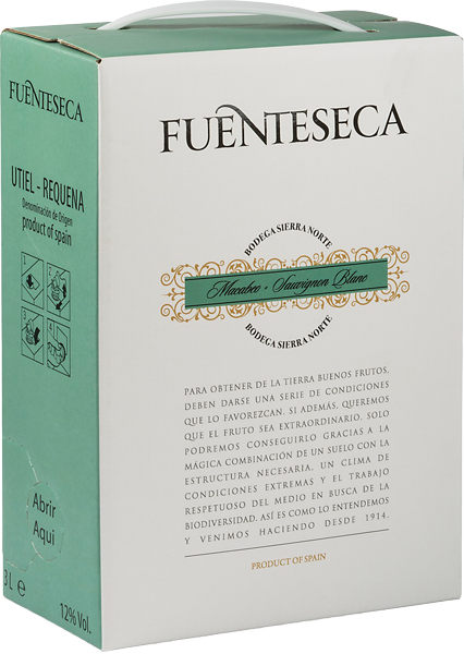 Fuenteseca Macabeo Sauvignon Blanc, bag-in-box