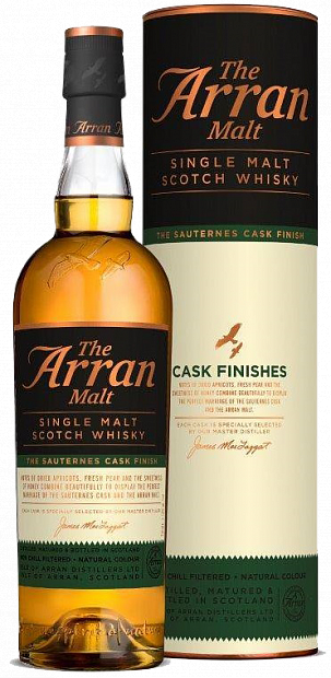 Arran Sauternes Cask Finish, в тубе